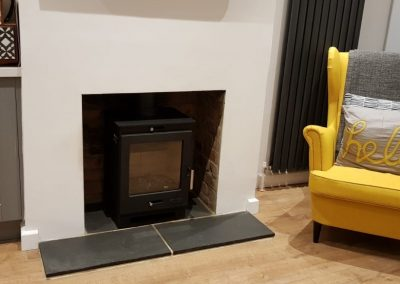 Renovation to fireplace and installing of a Log Burner